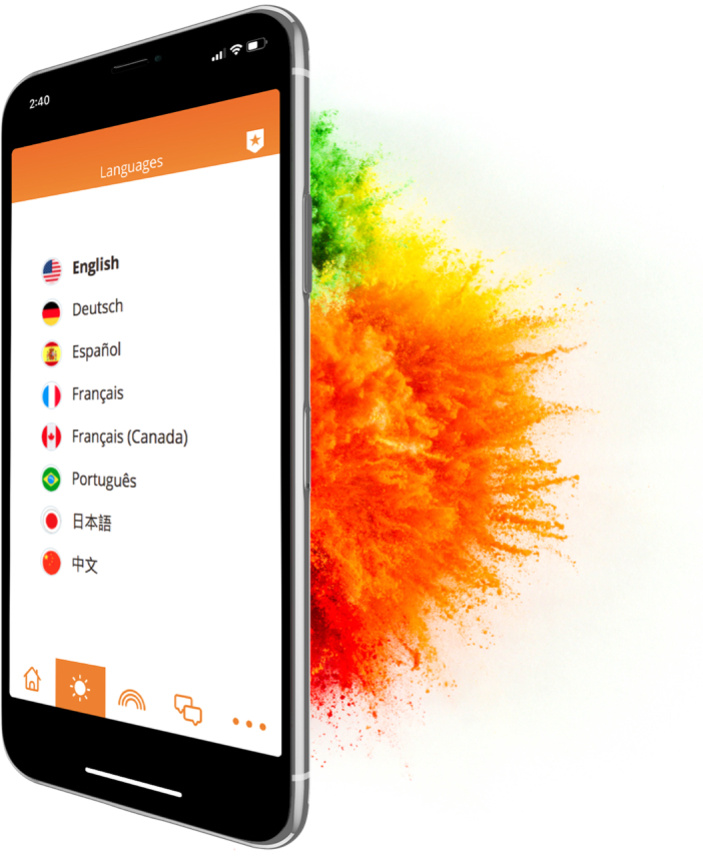 Screenshot of Happify mobile app in smartphone frame