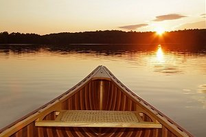 rowboat in lake