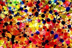 colorful atom networks
