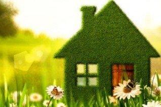 green house in field