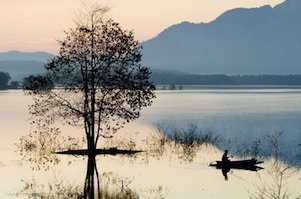 serene lake scene